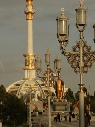 Statue of President of Turkmenistan