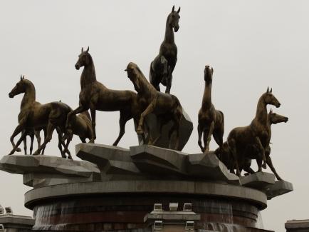 Seven Horses Statue