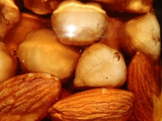 Hazelnuts and Almonds in Honey
