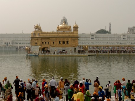 Worshippers at the Golden Temple