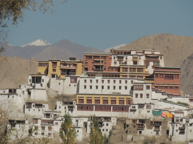 The Thiksey Monastery from My Tent