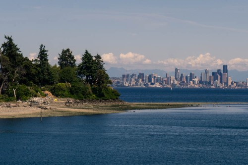 Seattle, Cityscape, Seascape, Mt. Rainier