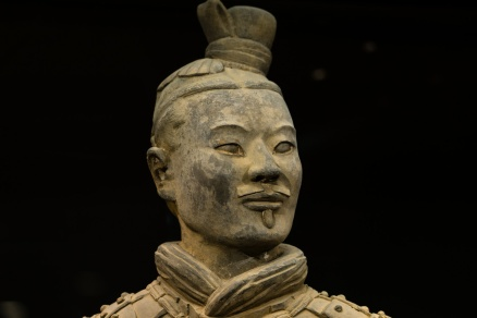Pictures of Warrior Details in Xian China by Mary Catherine Messner