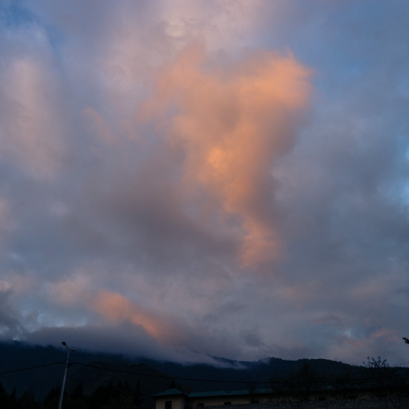 Pictures of Sunrise in Thimphu Bhutan by mcmessner Mary Catherine Messner