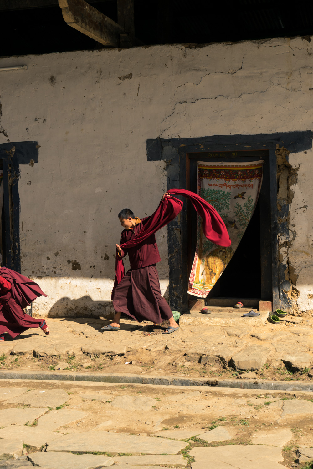 Pictures of Young Monks at Gangtey Monastery in Wangdue Bhutan by mcmessner Mary Catherine Messner