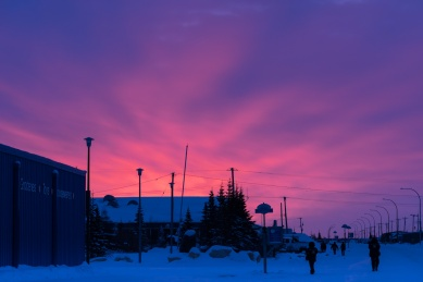 Pictures of Sunrise under Aurora Borealis Polar Lights Northern Lights in Churchill Manitoba Canada by mcmessner Mary Catherine Messner