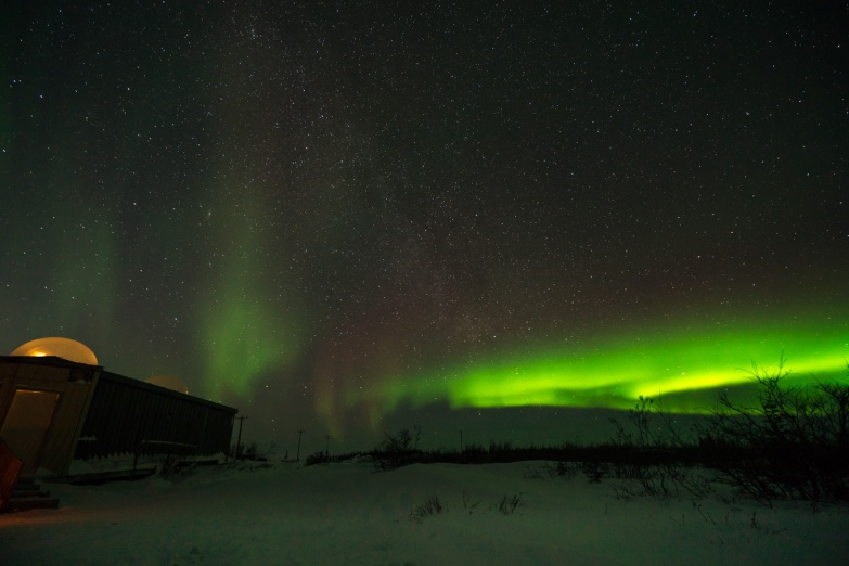 Picture of Northern Lights Aurora Borealis Polar Lights Northern Lights in Churchill Manitoba Canada by mcmessner Mary Catherine Messner