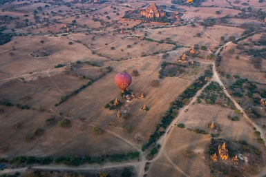 Pictures of Ballooning in Bagan Myanmar Burma with TCS World Travel Uncharted Myanmar trip by mcmessner Mary Catherine Messner