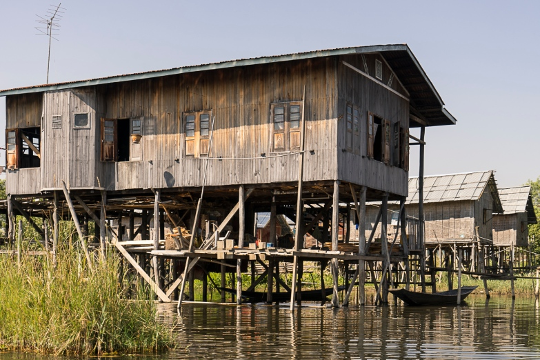 Pictures of Stilt Houses in Inle Lake Myanmar Burma with TCS World Travel Uncharted Myanmar trip by mcmessner Mary Catherine Messner