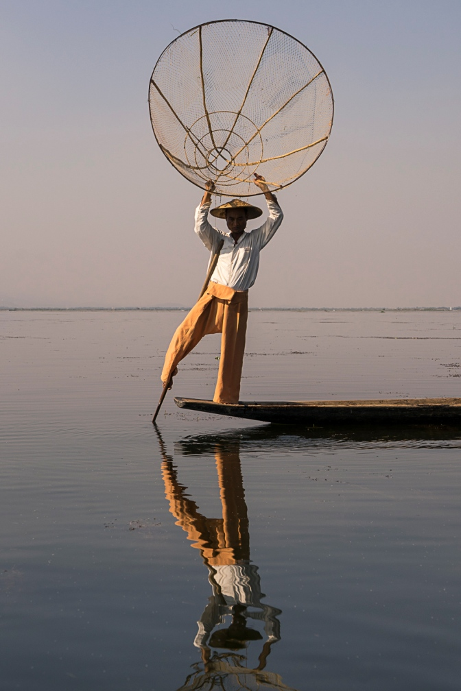 Pictures of Fisherman on Inle Lake Myanmar Burma with TCS World Travel Uncharted Myanmar trip by mcmessner Mary Catherine Messner