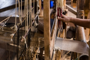 Pictures of Looms and Weaving on Inle Lake Myanmar Burma with TCS World Travel Uncharted Myanmar trip by mcmessner Mary Catherine Messner