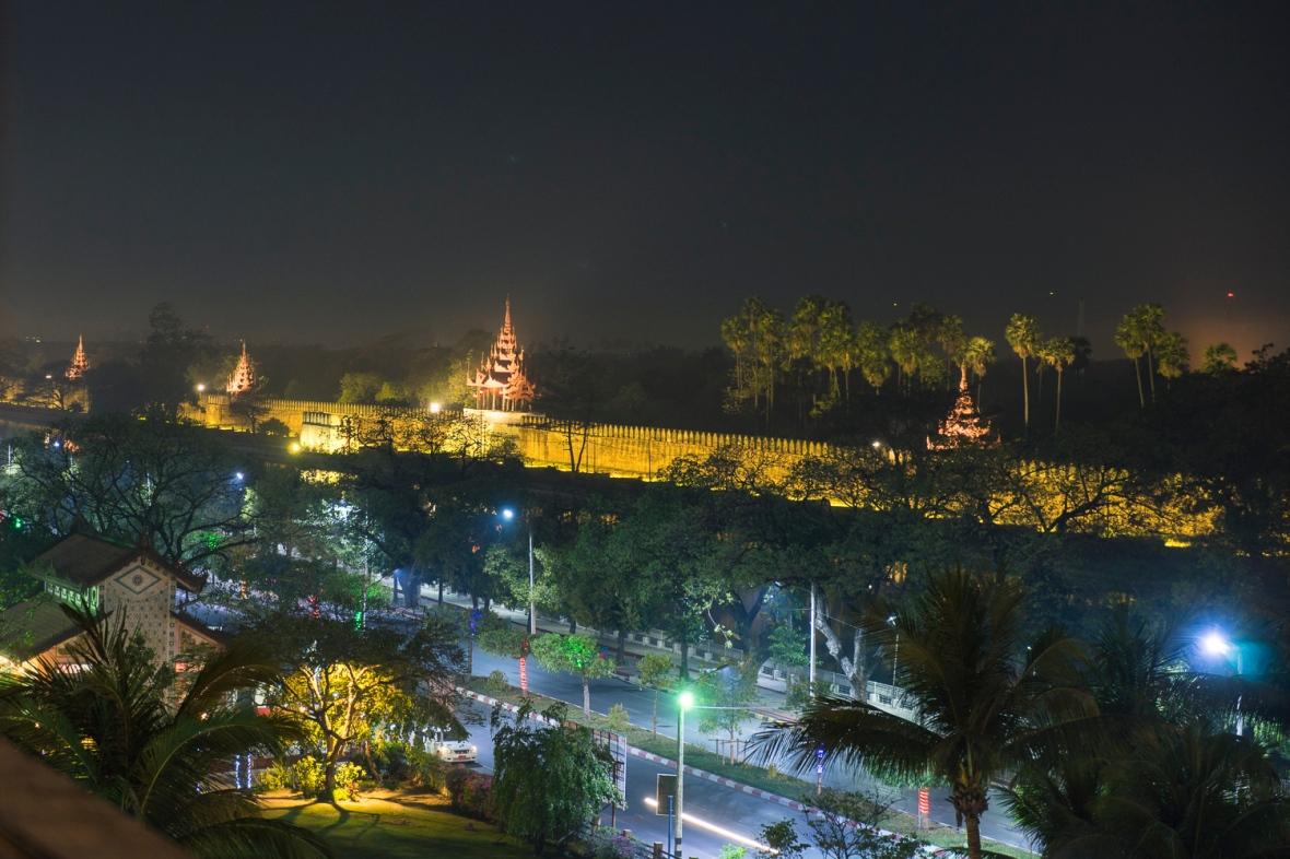 Mandalay Palace at Night