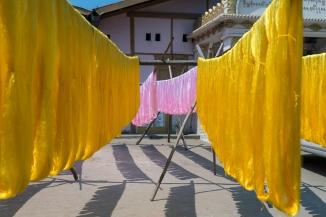Dying Silk Threads