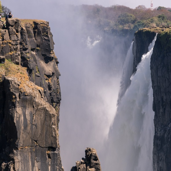 Picture of Victoria Falls, UNESCO World Heritage Site, Zambia, Africa while on the 2016 Passport to Folk Art: South Africa trip with BJ Adventures