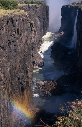 Picture of Victoria Falls in Zambia, Africa while on the 2016 Passport to Folk Art: South Africa trip with BJ Adventures
