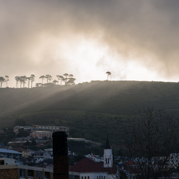 Picture of fog over Table Mountain, Cape Town, South Africa, Africa while on the 2016 Passport to Folk Art: South Africa trip with BJ Adventures