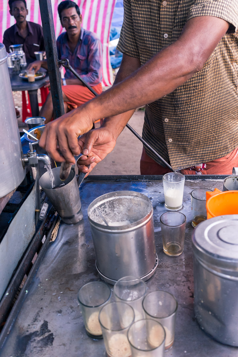 Pictures of things in chai cart in Thrissur, Kerala, India by mcmessner Mary Catherine Messner