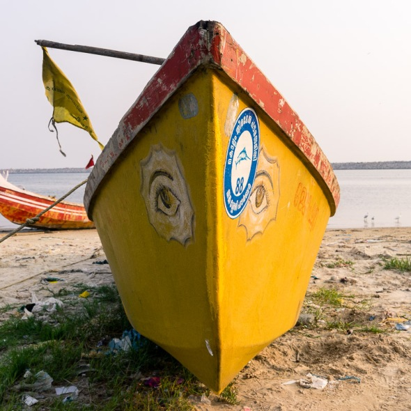 Picture of fishing boat on beach outside of fish market in Kollam, Kerala, India by mcmessner Mary Catherine Messner