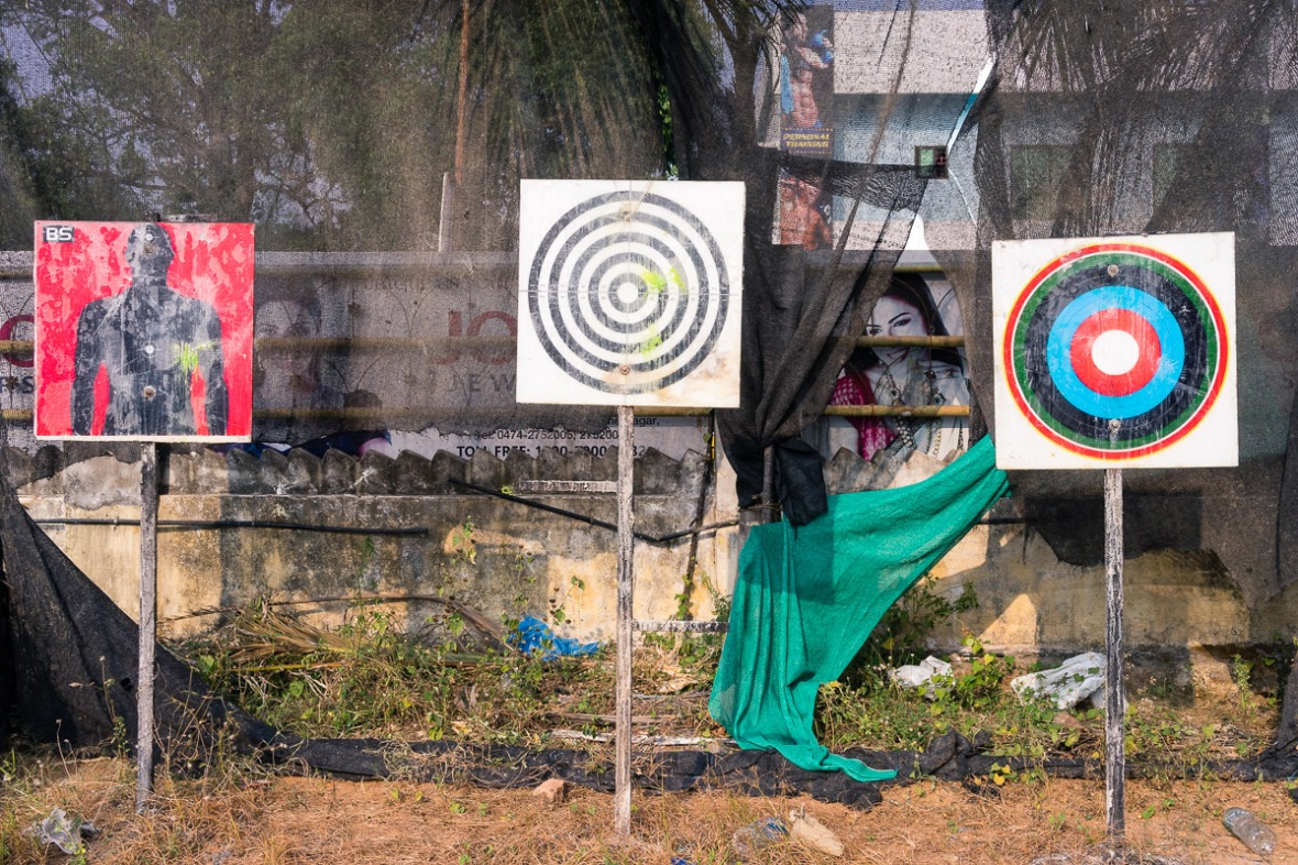 Pictures of targets in park in Kollam, Kerala, India by mcmessner Mary Catherine Messner