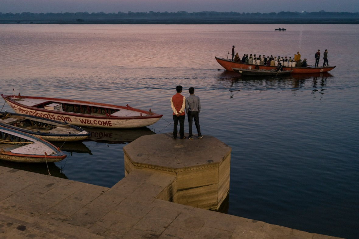 Travel and street photography of Varanasi India people, places and things made while Walking the Lanes with Maciej Dakowicz by mcmessner Mary Catherine Messner.
