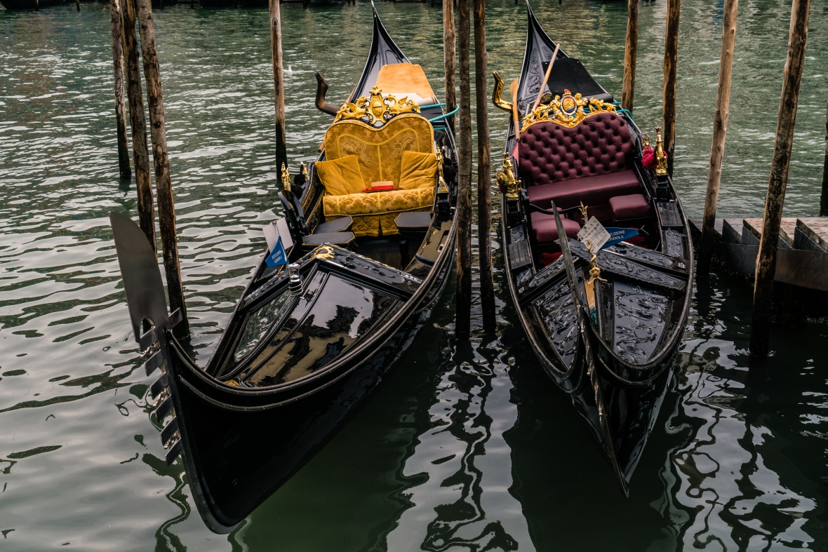 Travel and street pictures of gondolas in Venice Italy made by mcmessner Mary Catherine Messner.