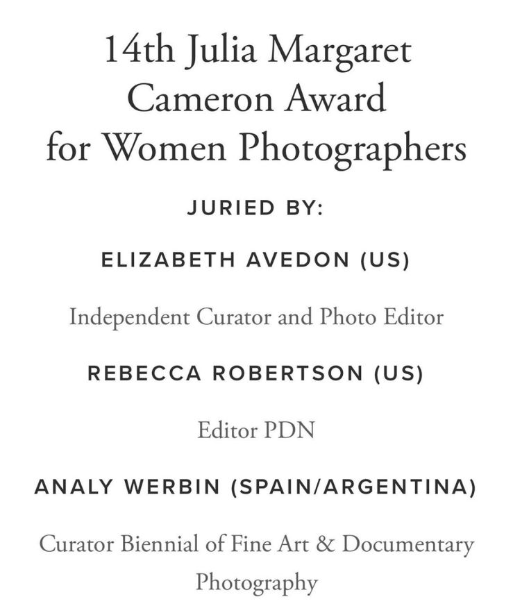 14th Julia Margaret Cameron Award for Women Photographers FotoNostrum GalleryIn Barcelona with the Photography Gala Awards