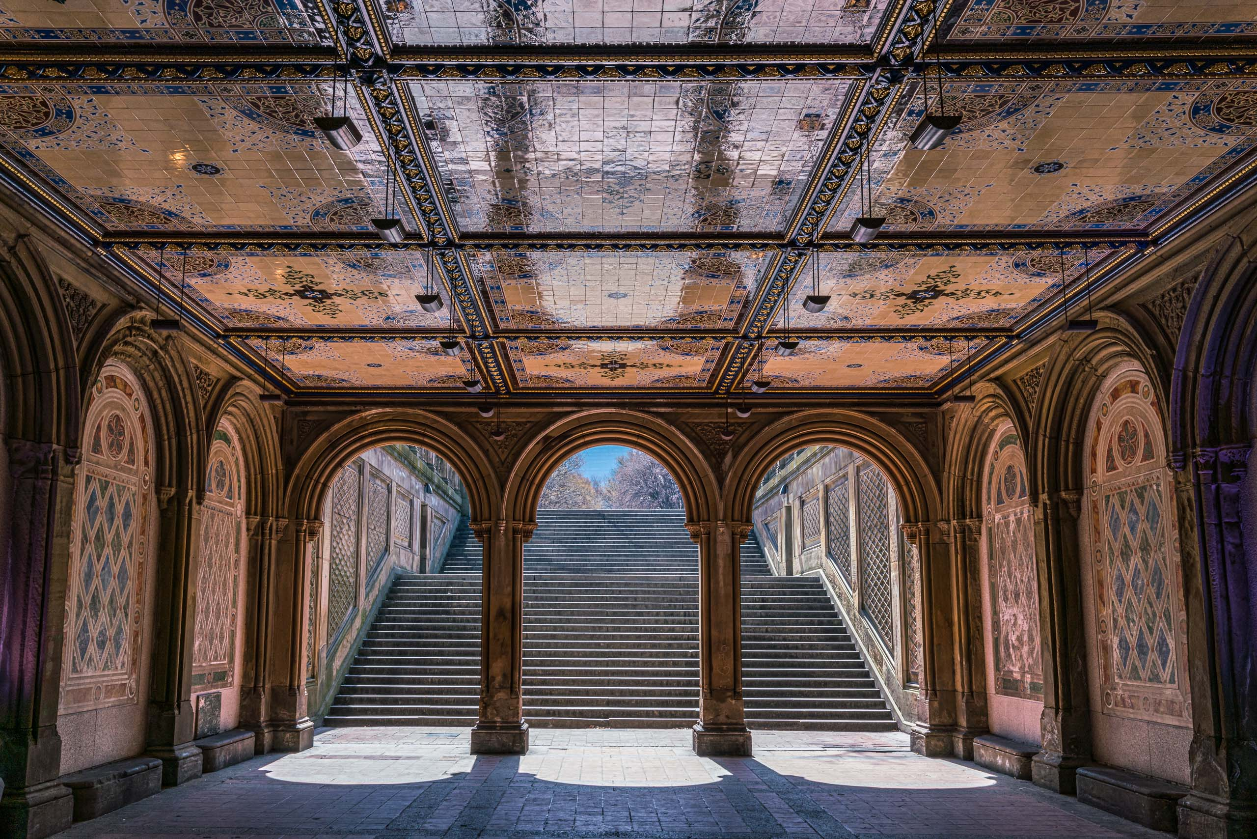 Travel and street photography of New York City, Central Park, Bethesda Terrace and Arcade in USA made by New York photographer Mary Catherine Messner (mcmessner).